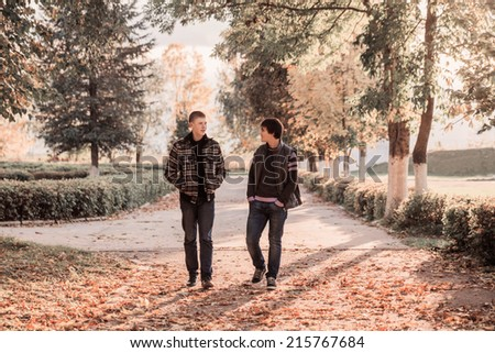 two teenagers outdoor