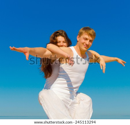 Two Together Walking In Love  - stock photo