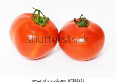 two tomatoes - stock photo