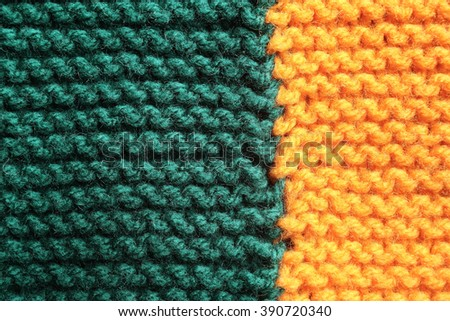 Two tone knitted background