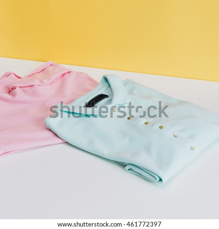 two trendy t-shirts
