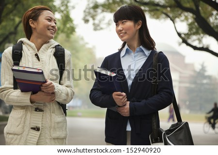 Two University Students on Campus