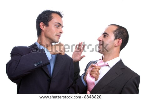 Two violent business men