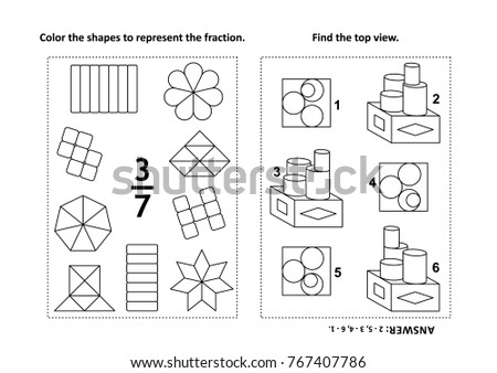 fraction coloring pages - Kubre.euforic.co