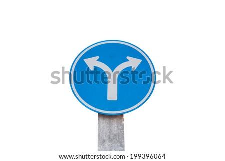 two way arrow symbol on isolate - stock photo