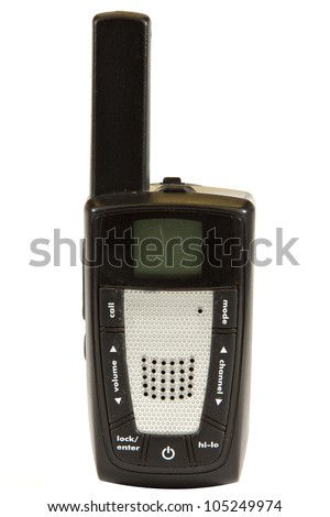 Two way radio isolated on a white background. - stock photo