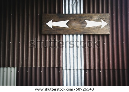 Two way sign - stock photo
