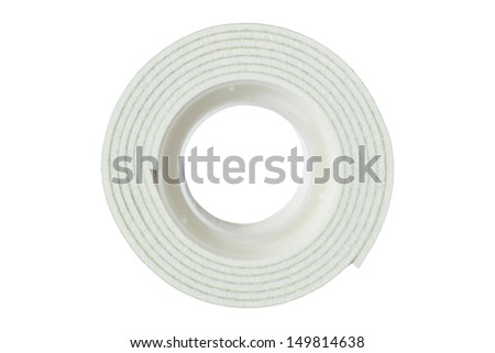 Two-way sticky tape isolated on white background
