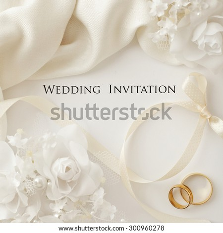 Wedding Rings Flowers Stock Images RoyaltyFree Images Vectors