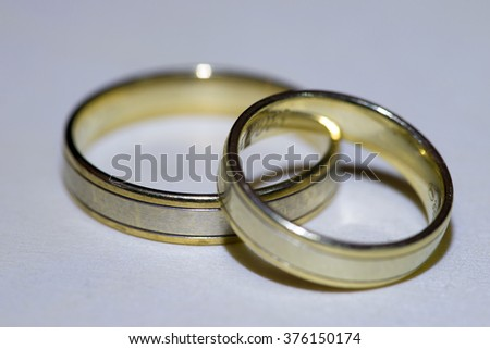 two wedding rings for man and woman / Wedding