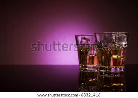 Two whisky glasses