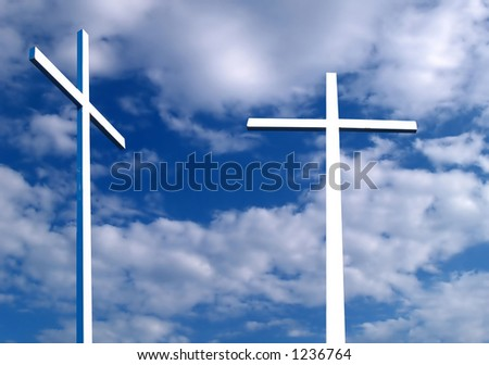 Two white crosses