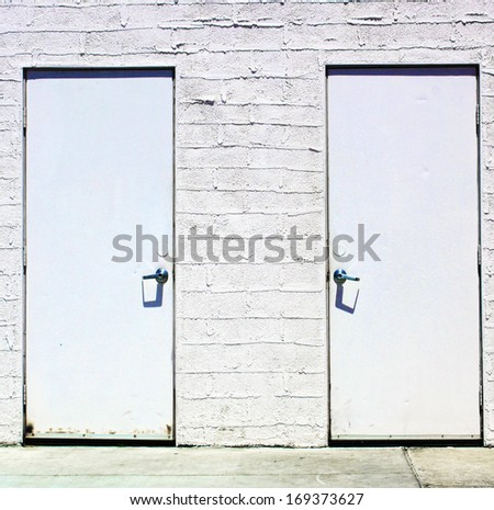 Two White Doors