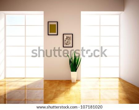 two windows - stock photo