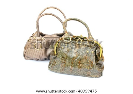 Two woman bags isolated on white background.