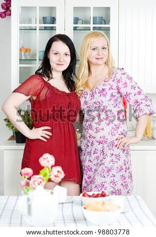 Two women - stock photo