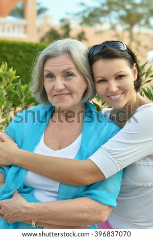 Two women at home - stock photo