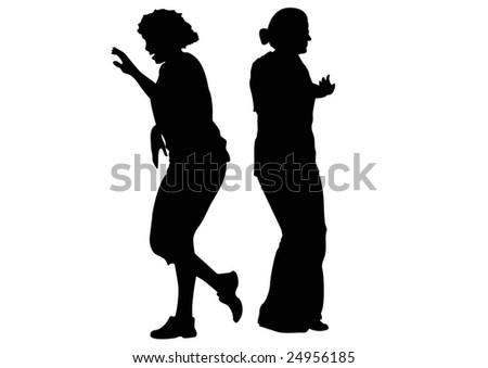 two women in aerobics class