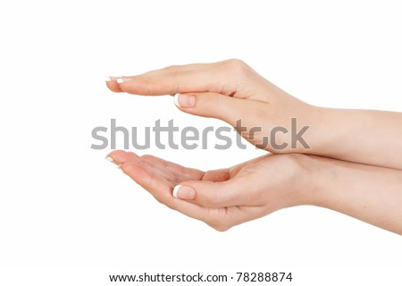 two women's hands. one above the other