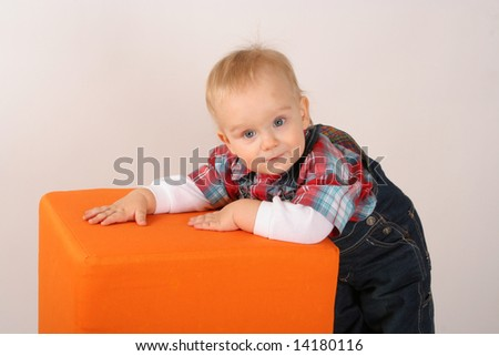 Two years of old babyboy in the photostudio