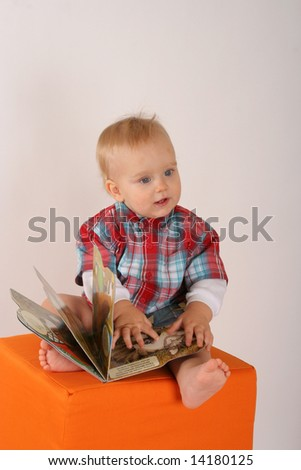 Two years of old babyboy portrait - stock photo