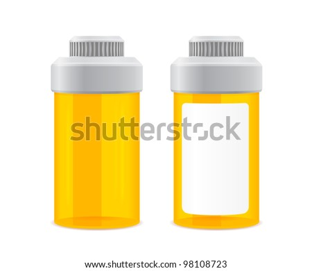 two yellow empty cans on a white background