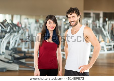 Two young athletes in a gym