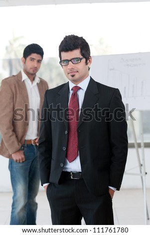 two young businessmen - stock photo