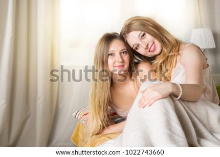 Barefoot teen girls
