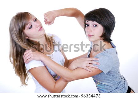 two young women having an argument