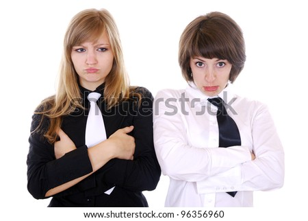 two young women looking sad