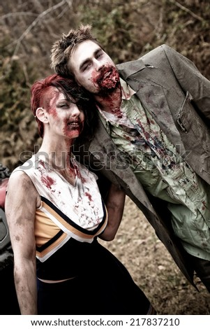 Two Zombies - stock photo