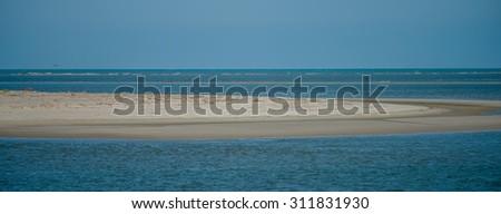 tybee island near savannah georgia beach scenes - stock photo