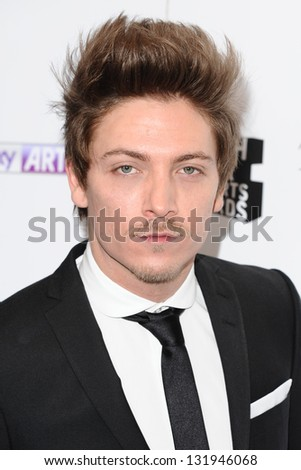 Tyler James arriving for the South Bank Sky Arts Awards 2013 at the Dorchester Hotel, London. 12/03/2013 Picture by: Alexandra Glen