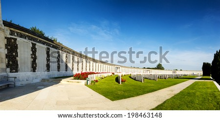 Tyne Cot World War One Cemetery, the largest British War cemetery in the world.  near Ypres, Flanders, Zonnebeke, Belgium