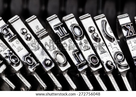 type an old typewriter. symbolic photo for communication in former times - stock photo