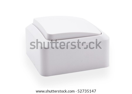 type electric circuit breaker, isolated on a white background - stock photo