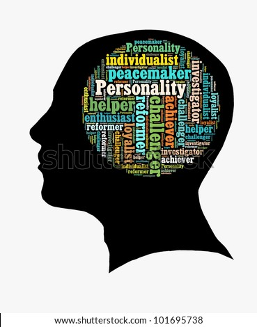 Type of personality in word collage - stock photo