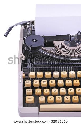 type writer - stock photo
