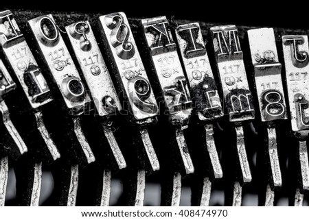types of a typewriter - stock photo