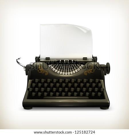 Typewriter, bitmap copy - stock photo