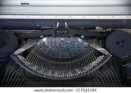 Typewriter  button - stock photo