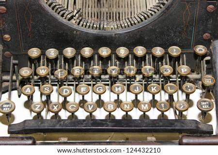 Typewriter closeup - stock photo
