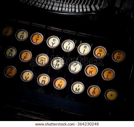 Typewriter Keys - stock photo
