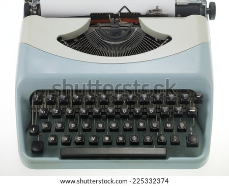 typewriter on white background