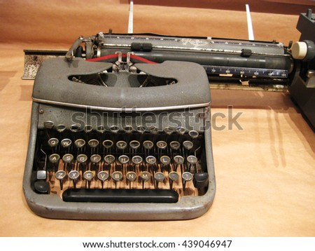 Typewriter, photocopier .