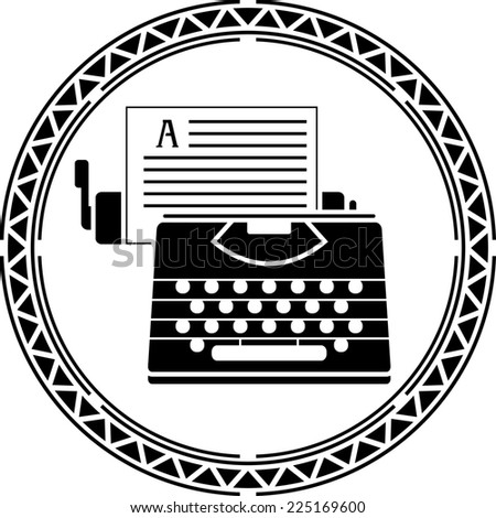 typewriter 2. raster version - stock photo