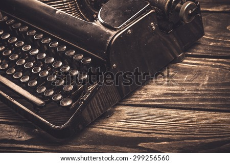 Typewriter, Retro Revival, Old-fashioned. - stock photo
