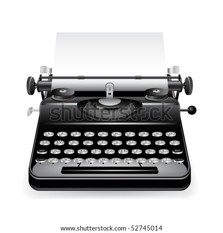 typewriter with a paper