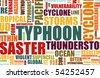 Typhoon Natural Disaster as a Art Background - stock vector